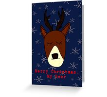 Merry Christmas, My Deer Greeting Card