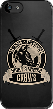 Night&#x27;s Watch Crest with Swords iPhone Case by liquidsouldes
