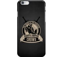 Night's Watch Crest with Swords iPhone Case iPhone Case/Skin