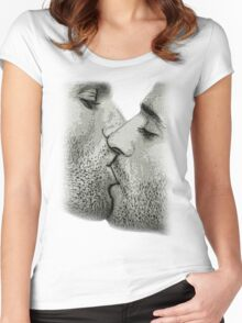 A KISS Women's Fitted Scoop T-Shirt