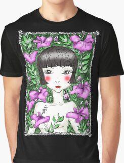 Hibiscus Garden Girl Graphic T-Shirt