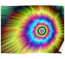 Color Explosion Tie-Dyed Poster