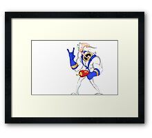 Funniest worm ever Framed Print