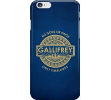 Gallifrey - No Gods or Kings, only Timelords iPhone Case iPhone Case/Skin