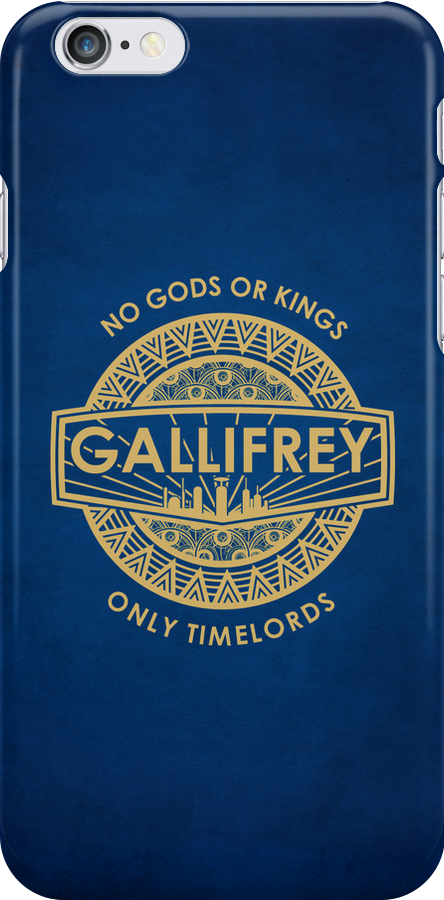 Gallifrey - No Gods or Kings, only Timelords iPhone Case by liquidsouldes
