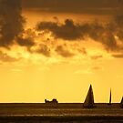 Sails in the Sunset. by Gabrielle  Hope