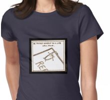 Paper clip - Another day at the office Womens Fitted T-Shirt