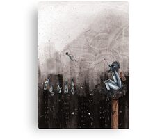 Clockwork Crows Canvas Print