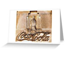Coca-Cola Bottle Greeting Card