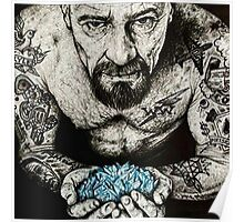 Walter White Blue Ice Poster