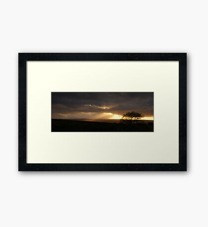 Shafts Across The Moors Framed Print