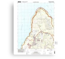USGS TOPO Map Guam Ritidian Point 462403 2000 24000 Canvas Print