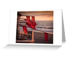 Flags on a boat Greeting Card