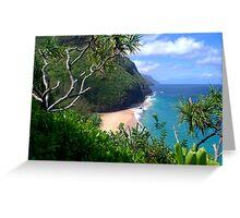 Hanakapiai beach Greeting Card