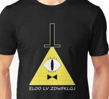 Gravity Falls Bill Cipher Message - White Letters Version Unisex T-Shirt