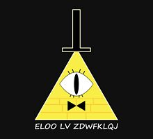 Gravity Falls Bill Cipher Message - White Letters Version Unisex T-Shirt