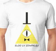 Gravity Falls Bill Cipher Message - Black Letters Version Unisex T-Shirt