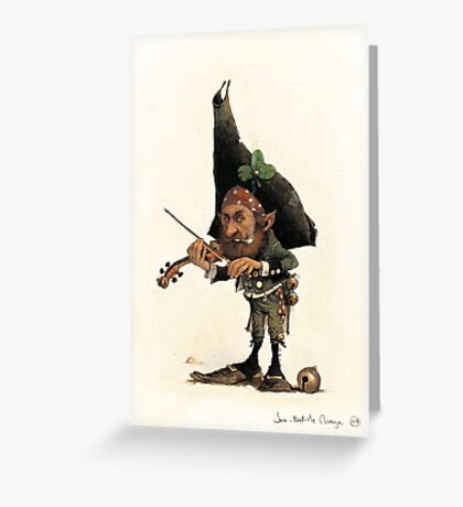 The boring Violonist Greeting Card