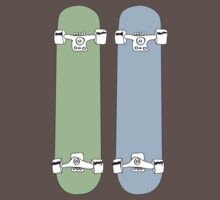 Green and Blue Skateboards  by mdounis