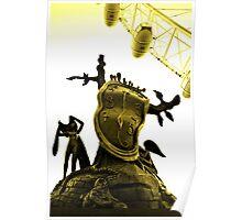 Dali melting watch, London Eye Poster