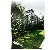 September Sun: Morning Garden Poster
