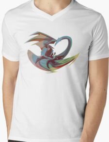 The Flying Kitty Mens V-Neck T-Shirt