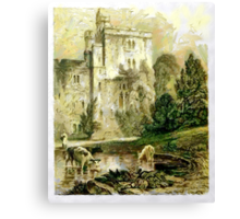 A digital painting of Wressle Castle, Yorkshire, England Canvas Print