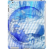 Blue Scape Head Wire  iPad Case/Skin