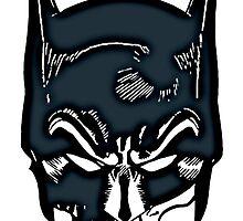 Batman Skull Face Grunge by FunCling