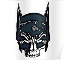 Batman Skull Face Grunge Poster