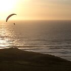 Paragliding in devon England by Michael Hollinshead
