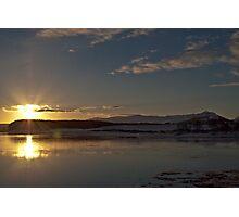 Struie Hill - Winter Susnset Photographic Print