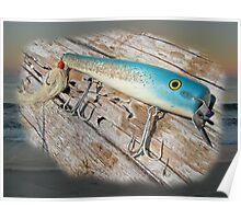 Cap'n Bill Swimmer Vintage Saltwater Fishing Lure Poster