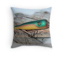 Vintage Saltwater Fishing Lure - Masterlure Rocket Throw Pillow