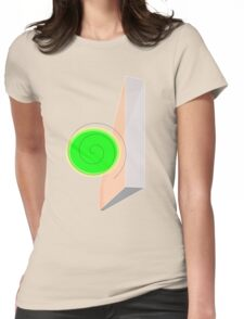 Spiral Wall Womens Fitted T-Shirt