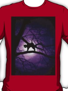 Purple Halloween Kitty T-Shirt