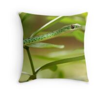 Natal Green Tree Snake Throw Pillow