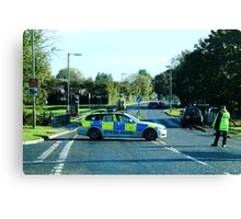 Air Ambulance in the road. Canvas Print
