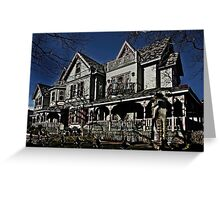 Victorian Ghosts Greeting Card
