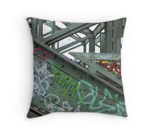 Grafitti and locks Throw Pillow