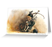 The Little Bagpiper Greeting Card