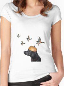 Pumpkin Head Halloween tee Women's Fitted Scoop T-Shirt
