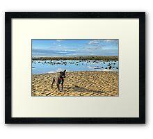 Tarn On Drigg Beach Framed Print