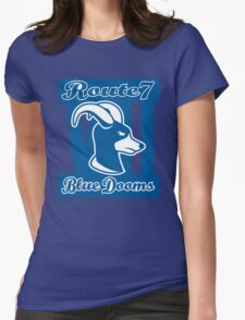Route 7 Blue Dooms Womens Fitted T-Shirt