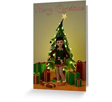 Cute Christmas Elf - Greeting Card Greeting Card