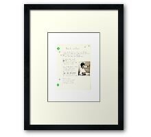 old grungegrunge VINTAGE POEM BY TIA KNIGHT black widow Framed Print