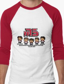 Moscow Pixel 5 Men's Baseball ¾ T-Shirt