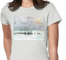 Birds of a Feather Under Ochre Skies Womens Fitted T-Shirt