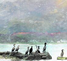 Birds of a Feather Under Ochre Skies Sticker