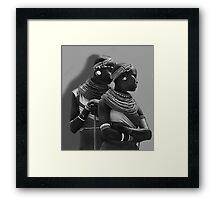 Portrait of Samburu Girls in B&W Framed Print
